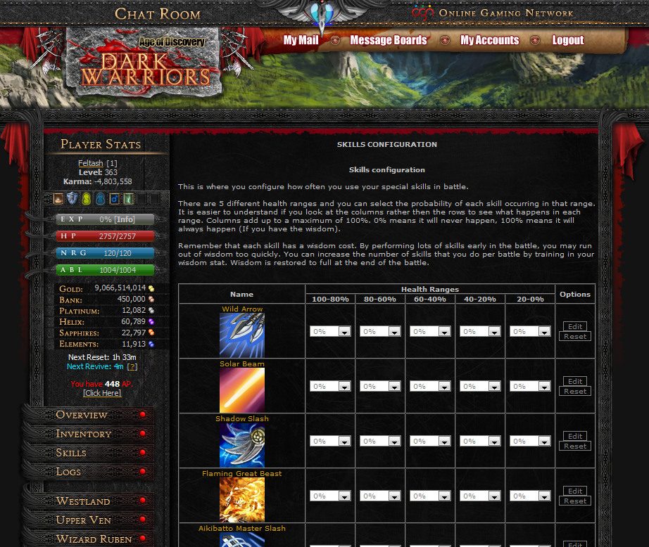 Text Based Game Dark Warriors is the Biggest and Best Browser MMORPG!